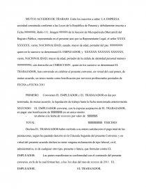 Formato Mutuo Acuerdo De Trabajo Documentos De