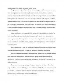 La Importancia De Los Grupos Sociales En La Vida Social Composiciones De Colegio Chestini33