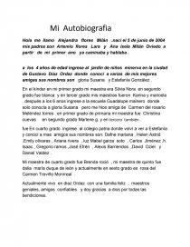 Ejemplo De Autobiografia Biografías Ana Elisa Flores