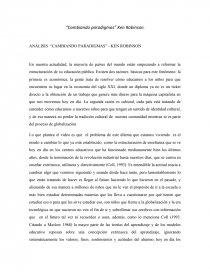Analisis Cambiando Paradigmas Ken Robinson Trabajos Ana Maria Velandiayala