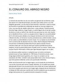 Resumen De El Conjuro Del Abrigo Negro Resúmenes Ale Rojas Garnica