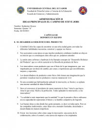 87a134ce703 IDEAS PRINCIPALES EL CAMINO DE STEVE JOBS - Síntesis - kathorine