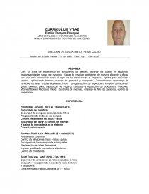 Curriculum Vitae Emilio Campos Apuntes