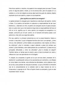 Qué Significa Ser Padrino De Evangelio Apuntes Marco Perez