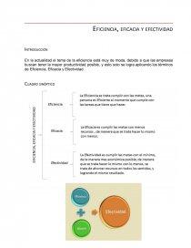 Eficiencia Eficacia Y Efectividad Cuadro Sinóptico Resúmenes Samantha7116