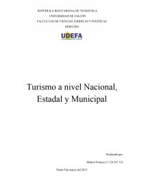 Turismo A Nivel Nacional Estadal Y Municipal Informes Emiag
