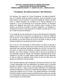 Paradigmas Del Sistema Educativo Ken Robinson Síntesis Mayovis