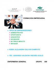 Formacion Empresarial Tipos De Emprendedores Etc Tareas