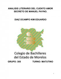 Análisis Literario Del Cuento Amor Secreto De Manuel Payno