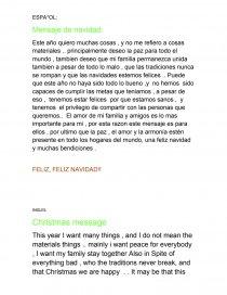 Carta De Navidad Ingles Espanol Apuntes Genesis105