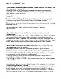 Caso de International Paper  - Prácticas o problemas