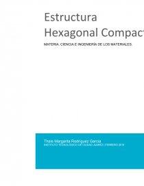 Estructura Hexagonal Compacta Hpc Trabajos Thaís