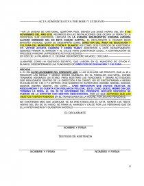 Modelo De Acta Administrativa Por Robo O Extravío Apuntes