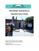 INFORME NUMERICO-NARRATIVO FINAL