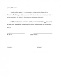 Acta Administrativa Por Falta Injustificada Síntesis