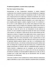 Ensayo sobre matrimonio homosexual en colombia