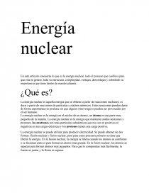 Energía Nuclear En Este Artículo Conocerás Lo Que Es La