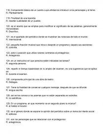 Cuestionario Espanol Sexto Grado Examen 711130