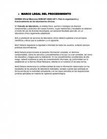 NORMA Oficial Mexicana NOM-007-SSA3-2011, Para la