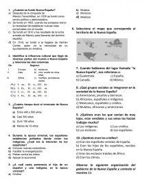 Examen de Historia BLOQUE 4 para cuarto grado - Exámen ...
