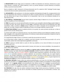 Análisis Completo Romancero Del Duero Gerardo Diego