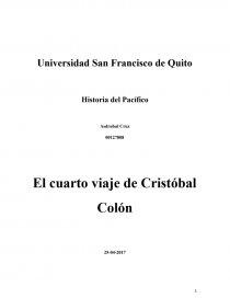 El cuarto viaje de Cristóbal Colón - Ensayos - Asdru Cruz