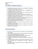 10 IDEAS PRINCIPALES.
