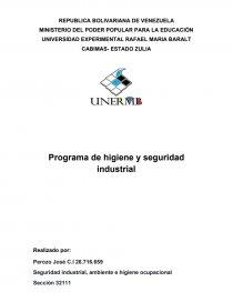 Programa De Higiene Y Seguridad Industrial Empresa Locatel