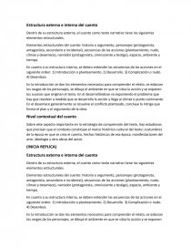 Estructura Externa E Interna Del Cuento Apuntes Yair Quirozz